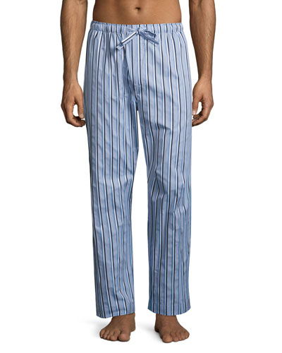 Mayfair 70 Striped Lounge Pants, Light Blue