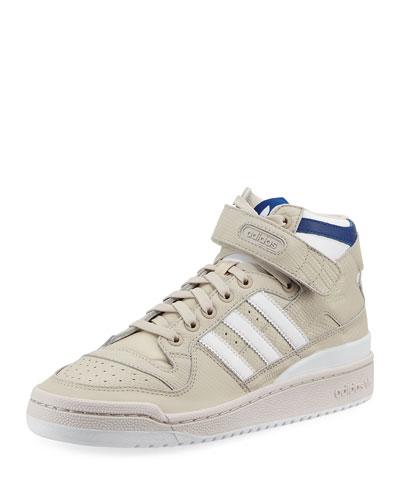 Men's Forum Leather Mid-Top Sneaker, Beige