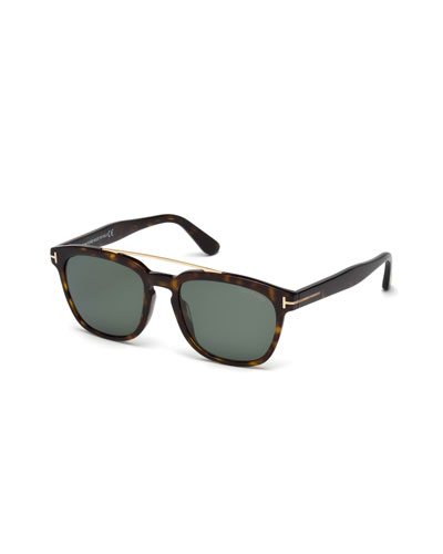 Holt Square Acetate Sunglasses, Blonde Havana