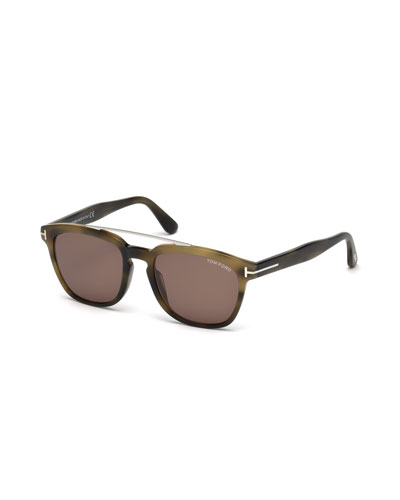 Holt Square Acetate Sunglasses, Olive