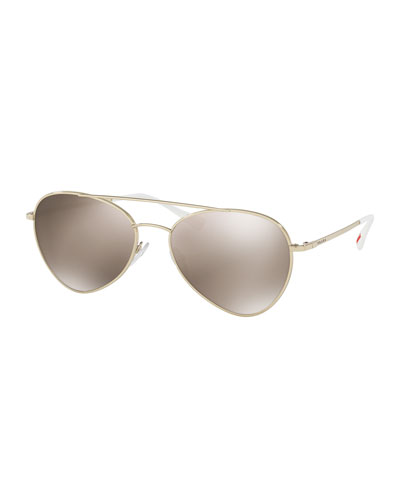 Linea Rossa Mirrored Aviator Sunglasses