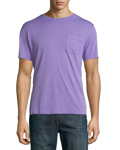 Pima Cotton Pocket T-Shirt, Lavender