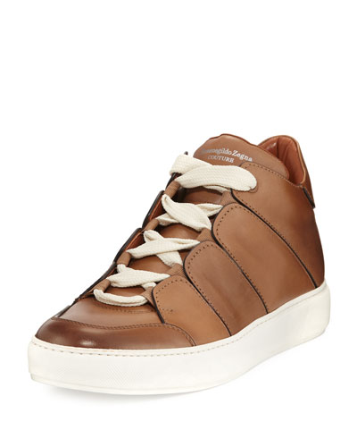 Tiziano Runway Leather High-Top Sneaker