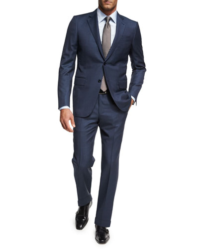 Ermenegildo Zegna Birdseye Wool Two-Piece Suit, Blue