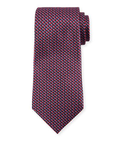 Open-Cube Silk Tie