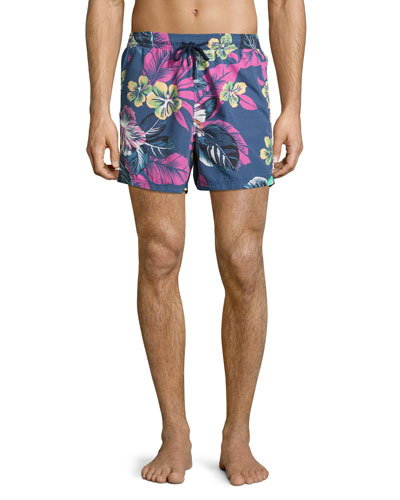 Floral Paisley Swim Trunks, Multi