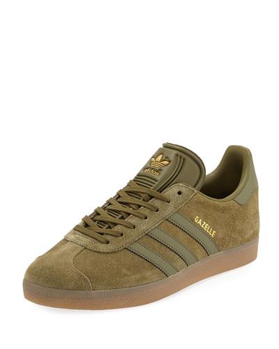 Men's Gazelle Original Suede Sneaker, Olive Green