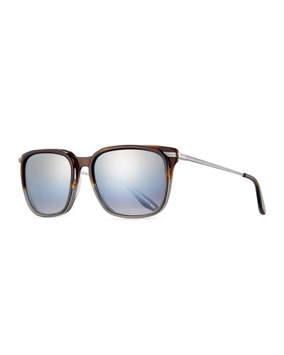 Prouvé Square Acetate Sunglasses, Tortoise/Pewter Gradient/Smolder