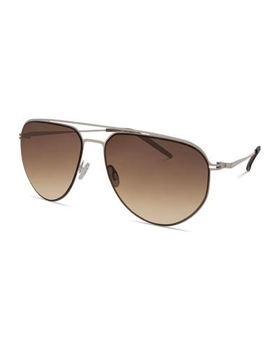 Men's B010 Aviator Sunglasses, Camo Gray/Oak Gradient