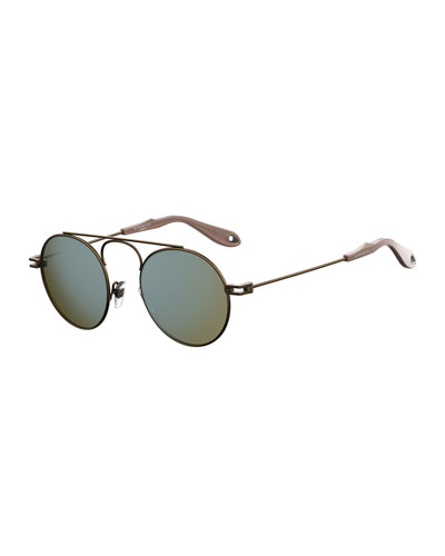 Men's GV 7054 Small Round Sunglasses