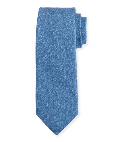 Mélange Silk-Cotton Tie