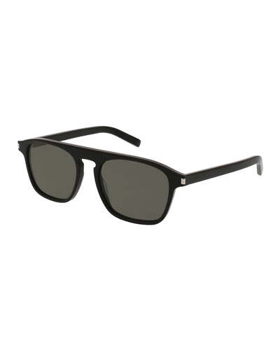 SL 158 Acetate Sunglasses, Black
