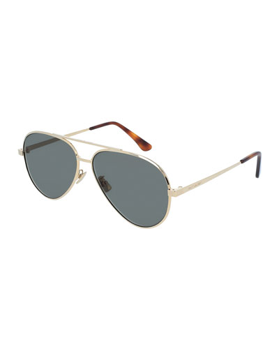 Men's Classic 11 Zero Aviator Sunglasses, Gold