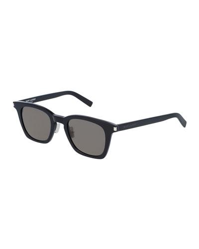 Classic 138 Slim Acetate Sunglasses, Black