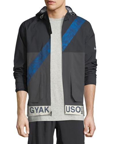 Gyakusou Hooded Zip-Front Jacket