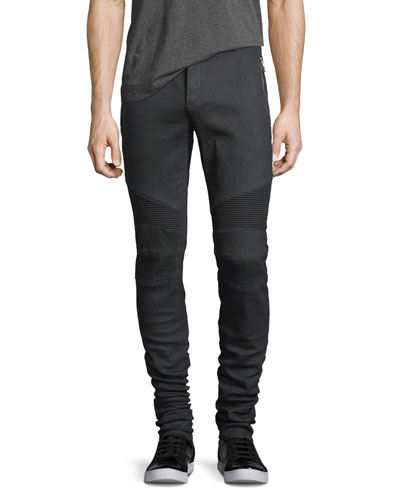 Skinny Moto Zip-Pocket Jeans