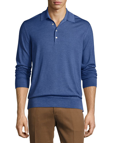 Long-Sleeve Polo Shirt,