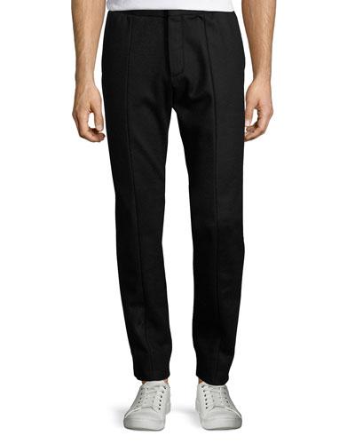 Trouser-Style Jogger Pants, Black