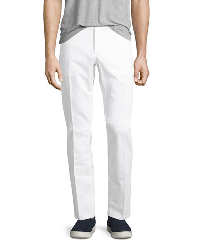 Straight-Leg Denim Jeans, Optical White
