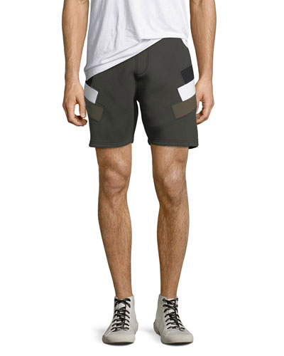 Neoprene Modernist-Stripe Shorts
