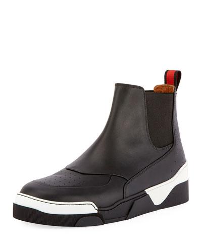 Tyson 20 Leather Chelsea Sneaker, Black