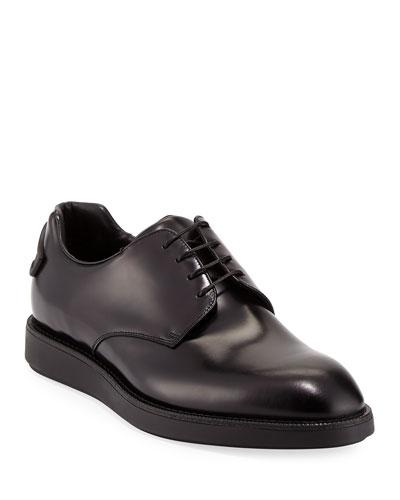 Spazzolato Hybrid Oxford Sneaker, Black