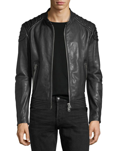 Calf Leather Biker Jacket