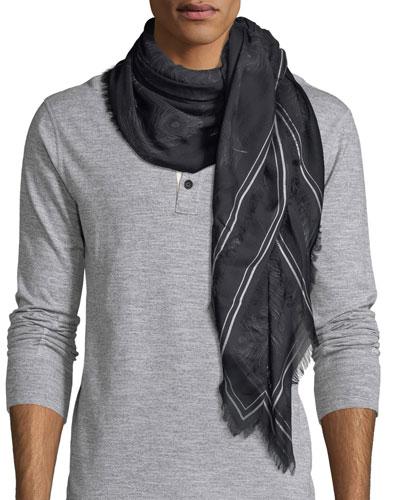 Feather Modal-Silk Scarf