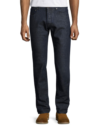 Regular-Fit Straight-Leg Jeans, Blue