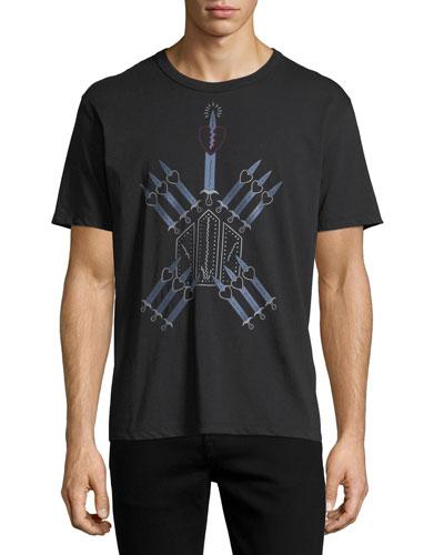 Love Blade Cotton Crewneck T-Shirt