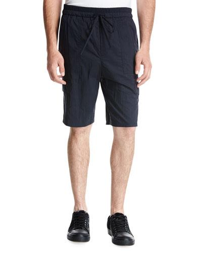 Drawstring Utility Shorts, Blue