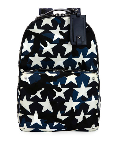 Camustars Nylon Backpack, Marine Blue
