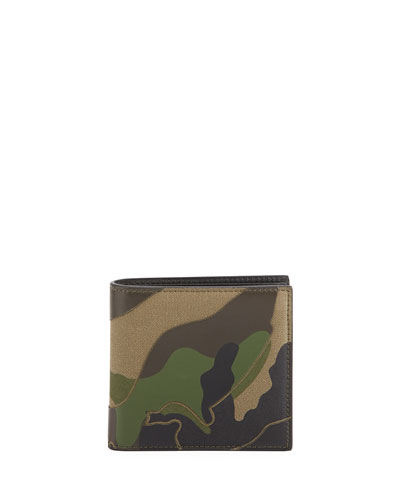 Camo Canvas & Leather Wallet