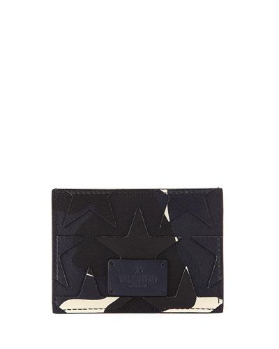 Camustars Canvas & Leather Card Case, Marine Blue