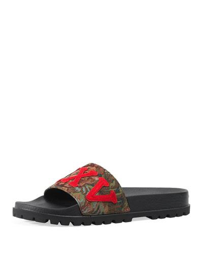 Pursuit Treck Floral Brocade Slide Sandal, Multicolor