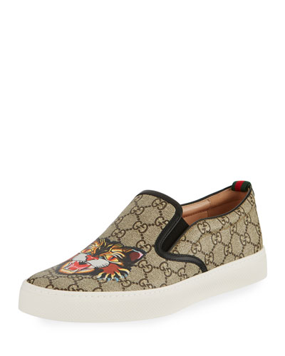 Dublin GG Supreme Angry Cat Slip-On Sneaker, Multicolor
