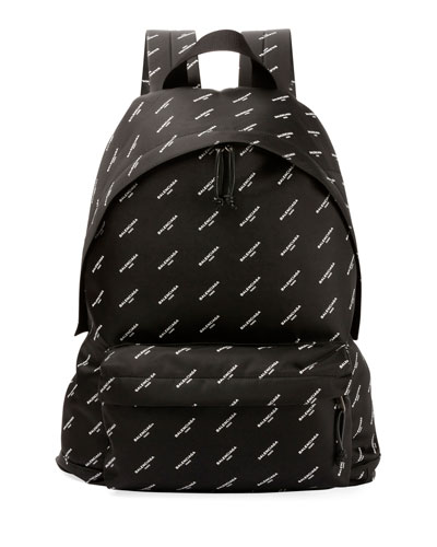 Explorer Logo-Print Canvas Backpack