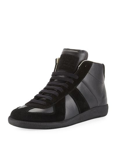 Replica Leather Mid-Top Sneaker