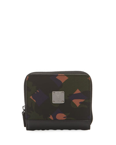 Dieter Munich Lion Camo Nylon Zip Wallet