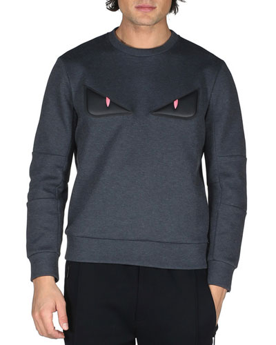 Monster Eyes Sweatshirt, Dark Gray