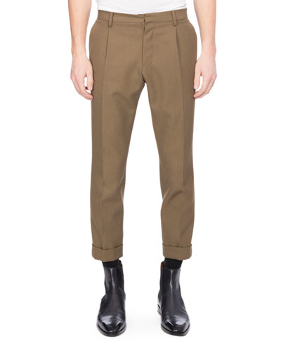 Twill Wool Trousers