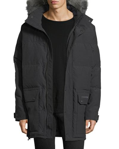 Emory Down Parka with Fur-Trim Hood