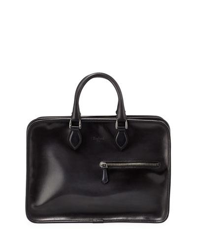 Deux Jours Venezia Calf Leather Briefcase