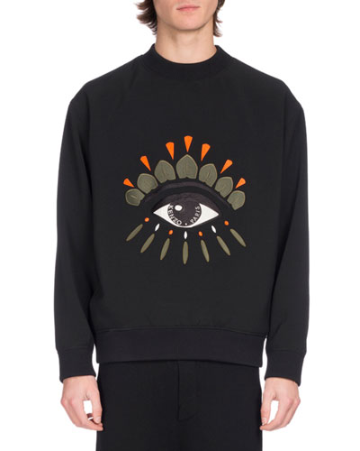 Kenzo Sweatshirts EMBROIDERED EYE ICON SWEATSHIRT, BLACK