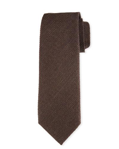 Textured Silk-Wool Tie