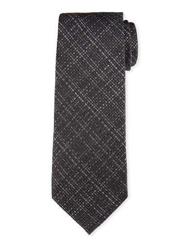 Hopsack Woven Silk Tie