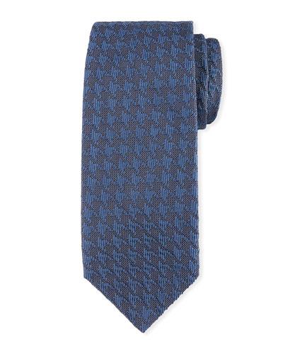 Textured Houndstooth Tie