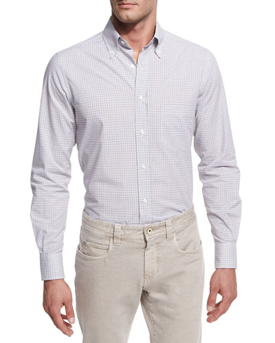 Check Cotton Oxford Shirt