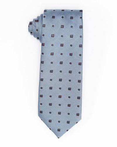 Diamond-Box Silk-Cotton Tie
