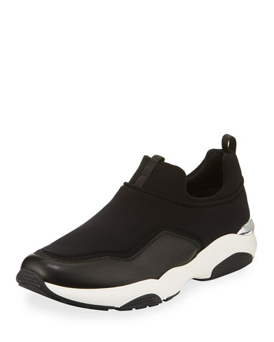 Leather & Neoprene Slip-On Sneaker